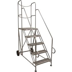 Cotterman Straddle Trailer Ladder w/CAL OSHA Rail Kit - 5 St