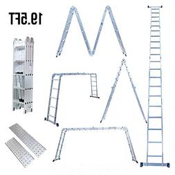 Superworth 19.5ft Multi Purpose Aluminum Telescopic Ladder H