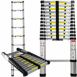 Telescopic Extension Ladder Heavy Duty Giant Aluminum 12.5 F