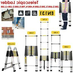 Telescopic Ladder 6.5-16.5FT/2-5M Extension Folding Multi Pu