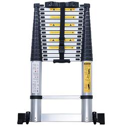 WolfWise 15.5FT Telescopic Ladder with Balance bar Wheel Ant
