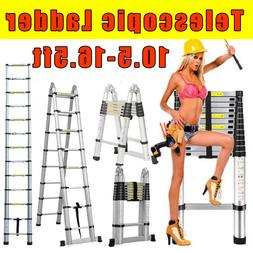 Telescoping Extension Ladder Aluminum Folding Portable All P