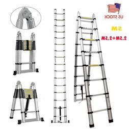 Telescoping Extension Ladder Heavy Duty  Aluminum 16.5FT Fee