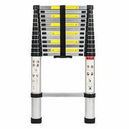 Telescoping Extension Ladder Heavy Duty Giant Aluminum 12.5