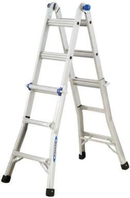 Telescoping Ladder,w/ J Locks,13',8-1/2x24-5/8x156, AM