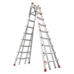 LITTLE GIANT 10110 Telescoping Step Ladder,17ft,IA,Aluminum