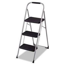Cosco Three Step Big Step Folding Step Stool with Rubber Han