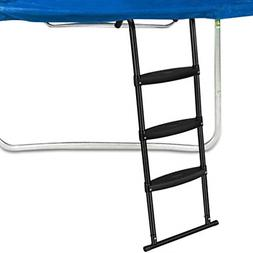 Gardenature Trampoline Ladder-3 Steps Wide-Step Ladder-Black
