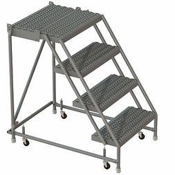 tri arc 4 step steel rolling ladder