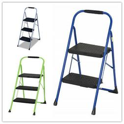 Cosco Two/Three Step Big Step Folding Step Stool with Rubber