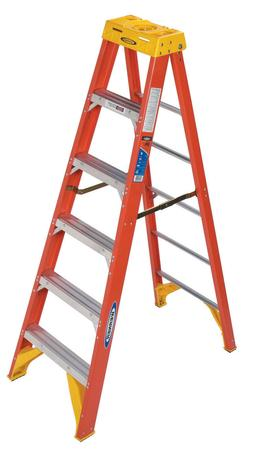 Werner Type 6ft IA Pro Grade Fiberglass Step Ladder with sli
