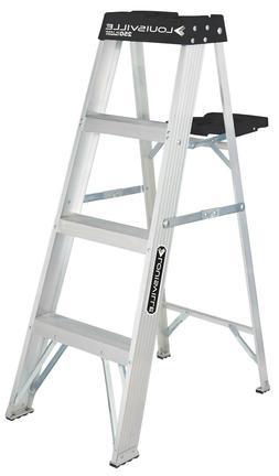 Louisville Ladder Type I 4-foot Aluminum Sturdy Stepladder 2