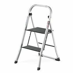 Delxo Upgrade Lightweight Aluminum 2 Step Ladder Step Stool