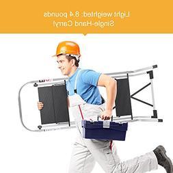 Delxo Upgrade Lightweight Aluminum 3 Step Ladder Step Stool