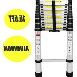 US 15.5FT Folding Multi Purpose Telescopic Extension Ladder