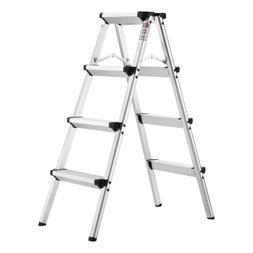 US Finether 3.2ft Aluminum Folding Double Sided Step Ladder