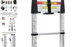 WolfWise 8.5FT EN131 Aluminum Telescopic Extension Ladder -