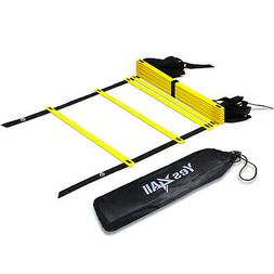 Yes4All Agility Ladder – Speed Agility Training Ladder wit